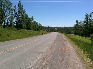 25 between Warkworth and Hastings. It now has a full paved shoulder on this route.